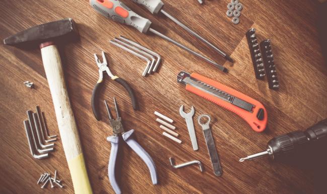 Werkzeug zur Reparatur von Angelgeräten