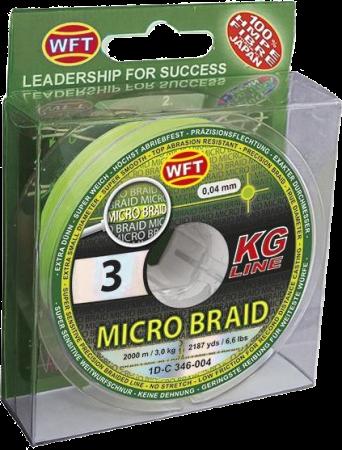 Micro Braid geflochtene Schnur von WFT in Stärke 0,04mm