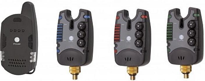 Funk-Bissanzeiger-Set mit 3 elektronischen Bissanzeigern und einem Empfänger